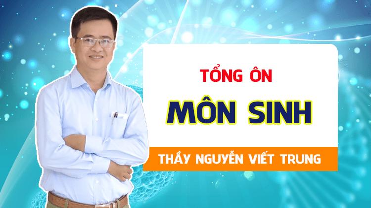 Khóa TỔNG ÔN môn Sinh - Thầy Nguyễn Viết Trung